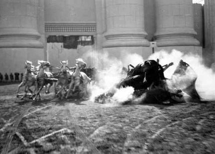 Ben Hur 1925 chariot crash
