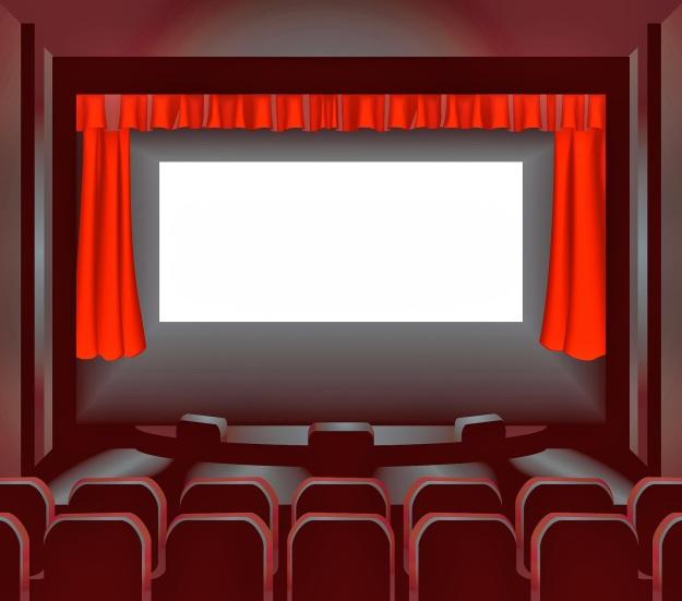 blank movie screen